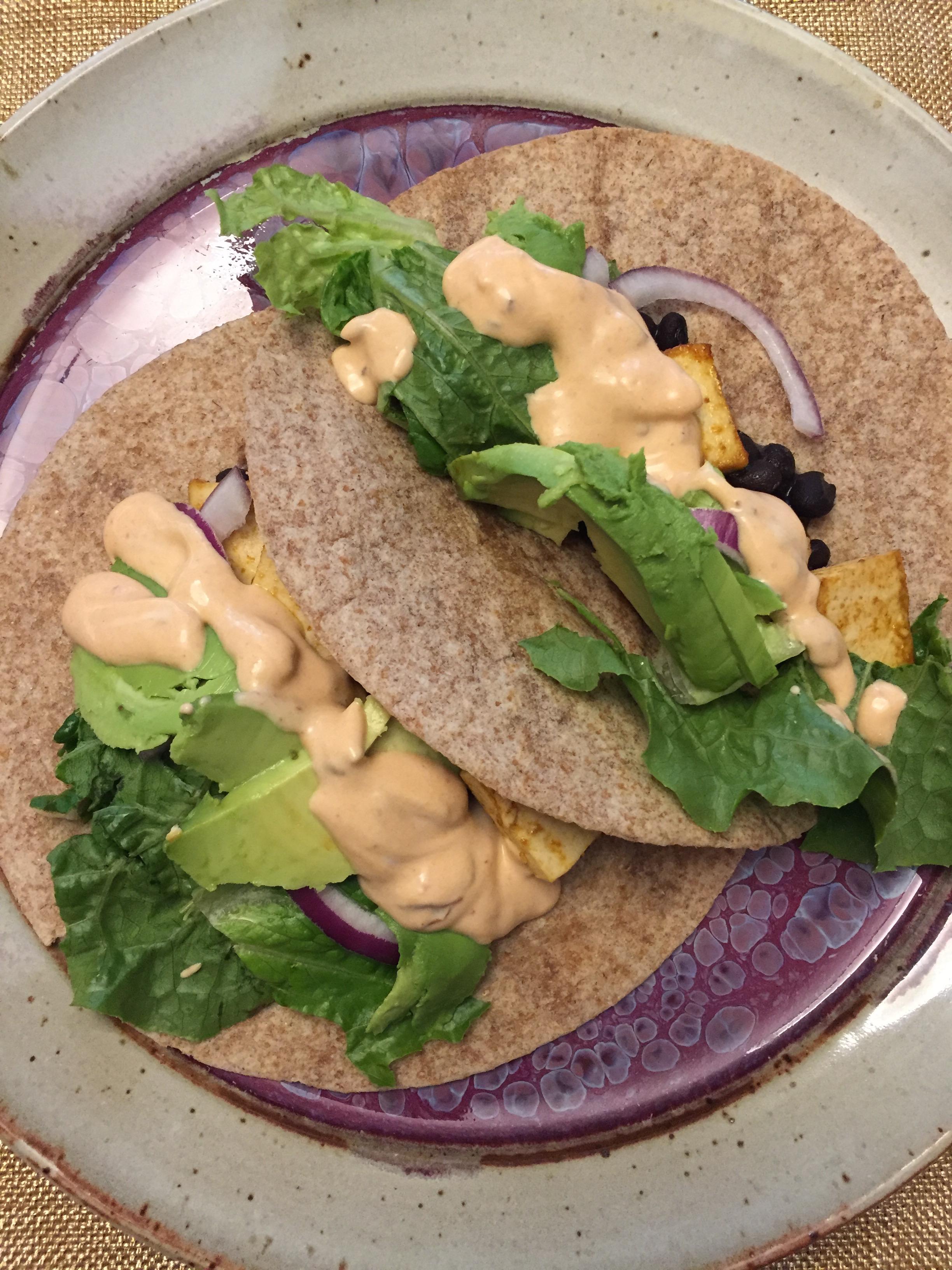 Chipotle Tofu Tacos