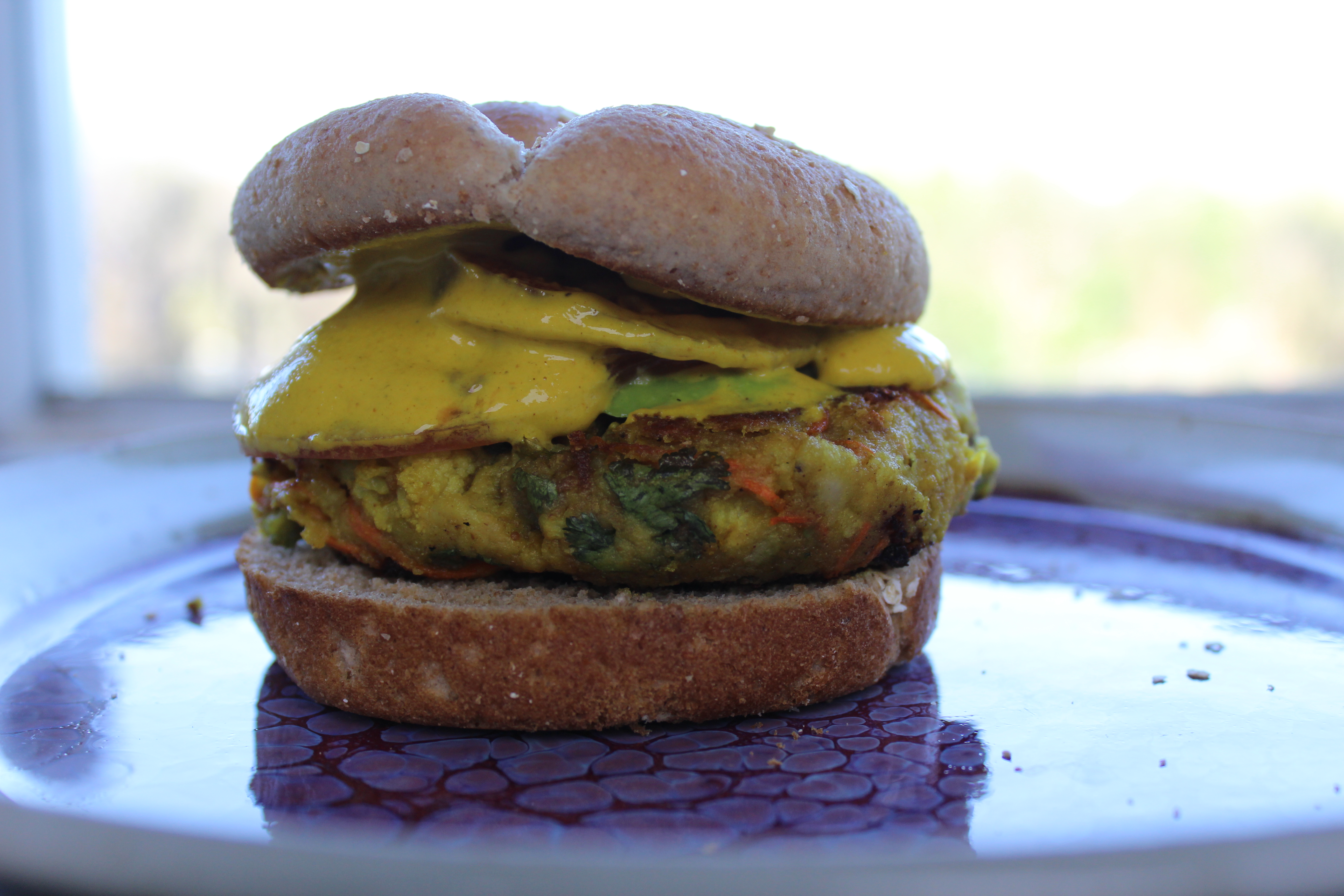 Indian Samosa Vegan Burger