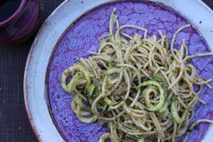 Zucchini Sundried Tomato Pesto Pasta