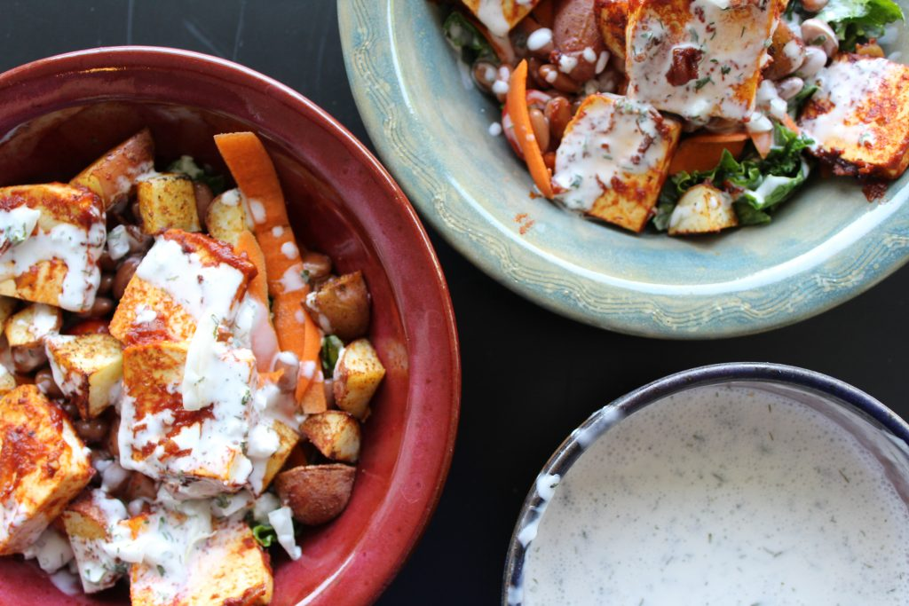 Before and After Vegan BBQ Ranch Bowl