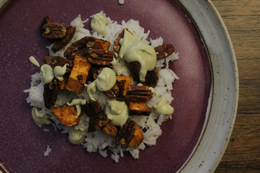 Year-End Spiced Sweet Potato & Pecans
