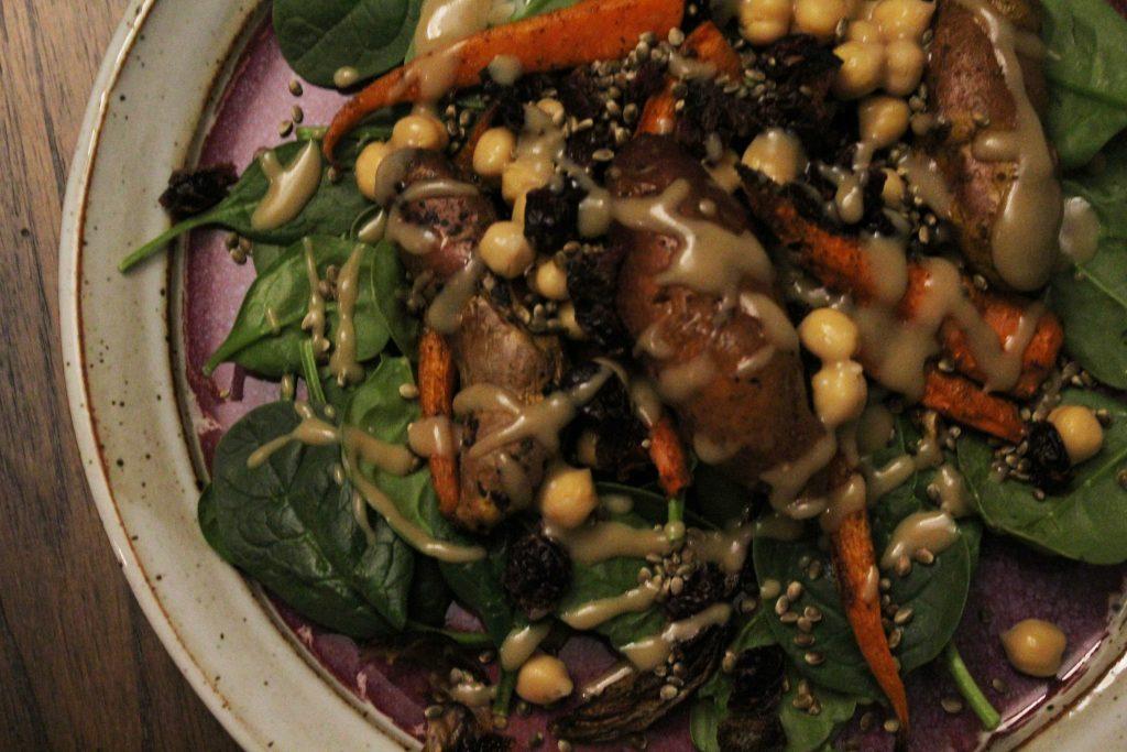 Roasted Veggie & Agave Mustard Salad Goals