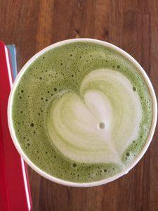 Matcha Latte at Humble Coffee