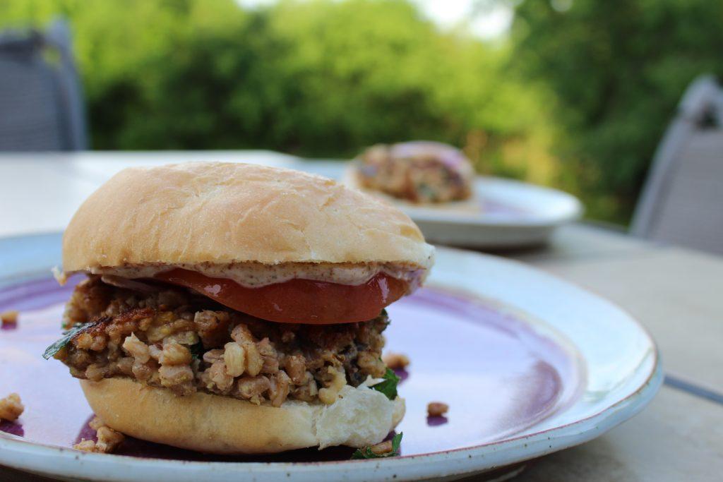 Restorative Yoga Farro Veggie Burgers