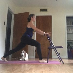 Chair Yoga Crescent Lunge