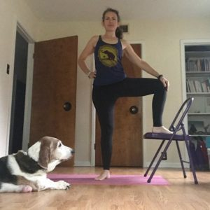 Chair Yoga Extended Side Angle Prep