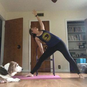 Chair Yoga Triangle Pose