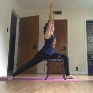 Chair Yoga Warrior 1