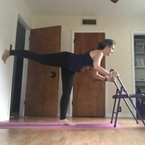 Chair Yoga Warrior 3