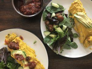 Broccoli and Potato Vegan Enchiladas