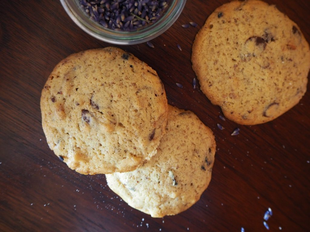 Lavender Chocolate Chip Cookies