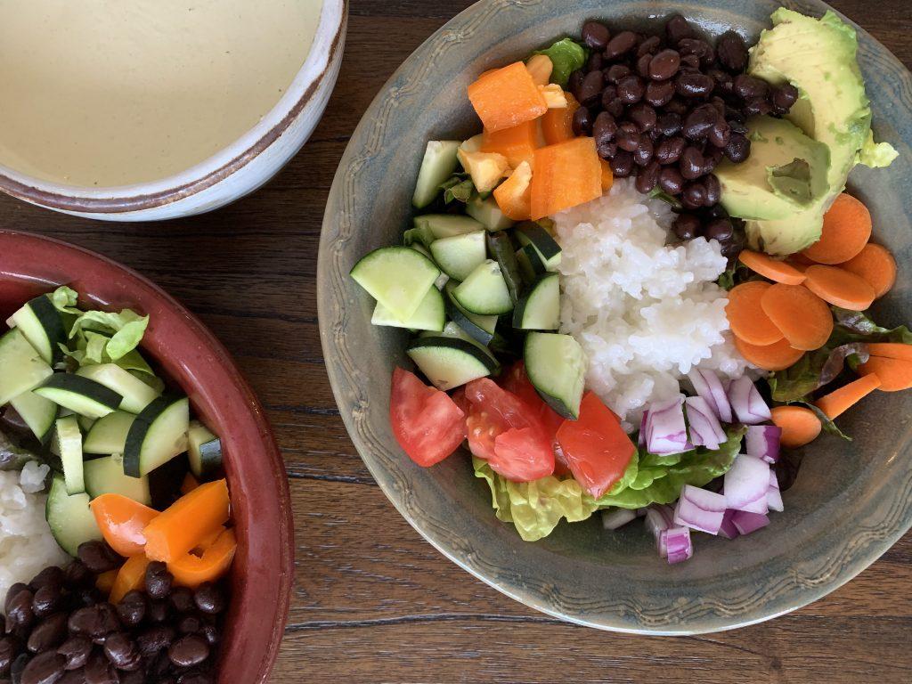 Black Bean Salads with Rice