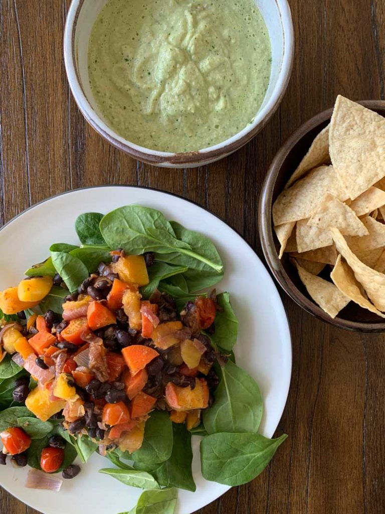 Finding Local, with Black Bean Salads and Avocado Crema